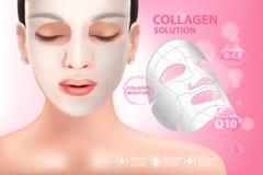Soins de la peau de cosmétique de sérum de collagène Photos libres de droits