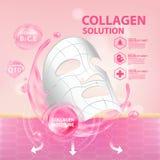 Soins de la peau de cosmétique de sérum de collagène Photo stock
