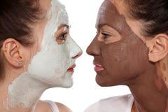 Soins de la peau et amitié faciaux Images stock