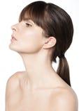 Soins de la peau naturels de femme de beauté Photo libre de droits