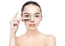 Soins de la peau naturels de station thermale de maquillage de belle fille de femme Photo stock