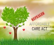 Soins de santé abordables d'acte de soin de l'abrogation ACA - 2d illustration illustration stock