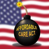 Soins de santé abordables d'acte de soin de l'abrogation ACA - illustration 3d illustration libre de droits