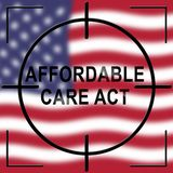 Soins de santé abordables d'acte de soin de l'abrogation ACA - 2d illustration illustration de vecteur