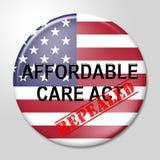 Soins de santé abordables d'acte de soin de l'abrogation ACA - illustration 3d illustration de vecteur
