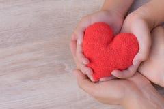 Soins de santé, amour, donation d'organe Images stock