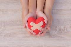Soins de santé, amour, donation d'organe, Images stock