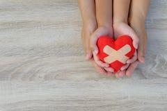 Soins de santé, amour, donation d'organe Images libres de droits