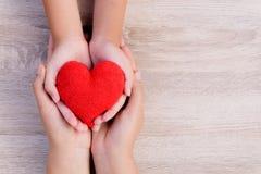 Soins de santé, amour, donation d'organe, assurance de famille et concept de CSR images libres de droits