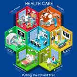 Soins de santé 01 cellules isométriques Photo stock