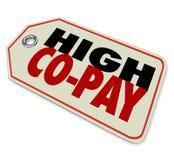 Soins de santé chers déductibles d'assurance élevée de Co-salaire illustration libre de droits