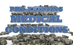 Soins de santé - conditions médicales préexistantes Photo stock