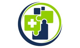 Soins de santé croisés Logo Design Template Images libres de droits