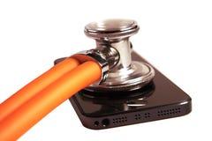 Soins de santé de téléphone Photos stock