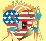 Soins de santé des États-Unis de fixation Images libres de droits