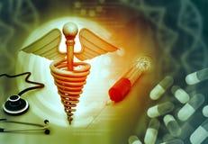 Soins de santé et fond médical Photo stock