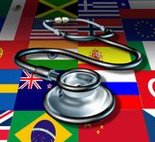 Soins de santé internationaux de stéthoscope de médecine Image stock