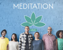 Soins de santé Lotus Flower Graphic Concept de méditation Photos stock