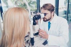 Soins de santé, médecine, vue et concept de technologie Doct d'oeil photos libres de droits
