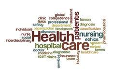 Soins de santé - nuage de mot Photos libres de droits