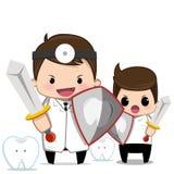 Soins dentaires de dentiste Images libres de droits