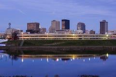 Soirée à Dayton, Ohio Images stock