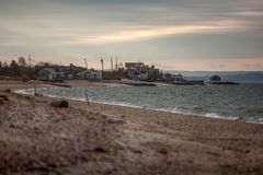 Soirée à la côte américaine, Long Island Images libres de droits