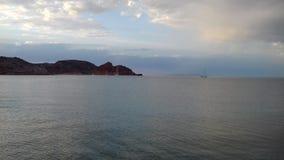 Soirée à la visibilité directe Gatos de Puerto Photos stock