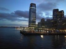 Soirée à Manhattan Images stock