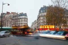Soirée à Paris Photographie stock