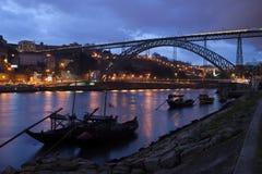 Soirée à Porto Images stock