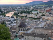 Soirée à Salzbourg Photos libres de droits