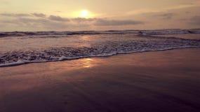Soirée à une plage Photographie stock
