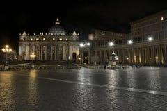 Soirée à Vatican image libre de droits