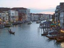 Soirée à Venise. Images libres de droits