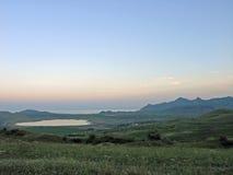 Soirée après coucher du soleil La Mer Noire crimea photographie stock libre de droits