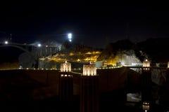 Soirée au barrage de Hoover au Nevada images stock