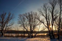 Soirée au lac Photos libres de droits