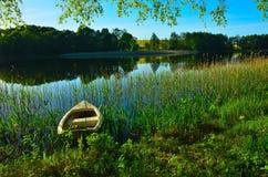 Soirée au lac Photographie stock libre de droits