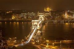 Soirée Budapest. Photos libres de droits