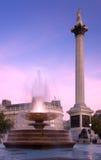 Soirée carrée de Trafalgar photographie stock