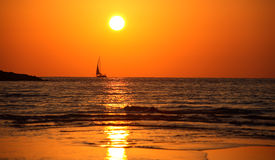 Soirée chaude d'été en mer Photographie stock libre de droits