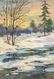 Soirée chaude d'hiver images stock