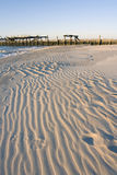 Soirée chaude en plage de l'hiver photographie stock