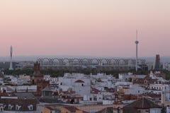 Soirée chez l'Espagne photo stock