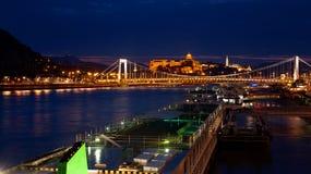 Soirée chez le Danube image stock