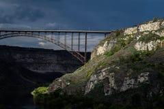 Soirée chez Perrine Bridge images libres de droits