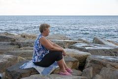 Soirée d'été au bord de la mer Images stock
