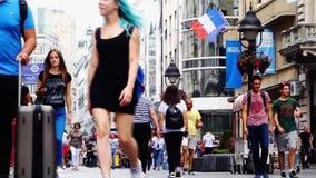 Soirée d'été dans la rue de Knez Mihailova, Belgrade, Serbie banque de vidéos