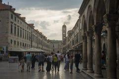 Soirée d'été dans la vieille ville Dubrovnik Photo libre de droits